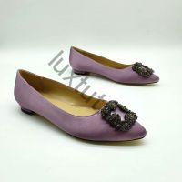 Балетки Маноло Бланик (Manolo Blahnik) фиолетовые купить в интернет магазине