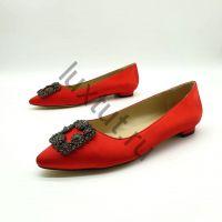 Балетки Маноло Бланик (Manolo Blahnik) красные купить в интернет магазине