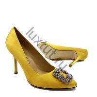 Женские туфли Маноло Бланик (Manolo Blahnik) желтые купить в интернет магазине