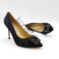 Женские туфли Маноло Бланик (Manolo Blahnik) черные купить в интернет магазине