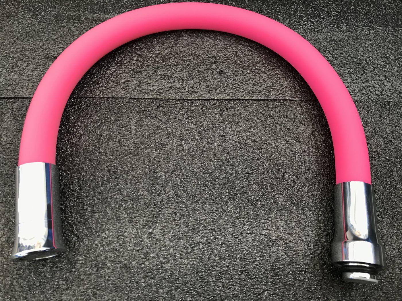 Гибкий излив Vaserzberg VS-2P (розовый)