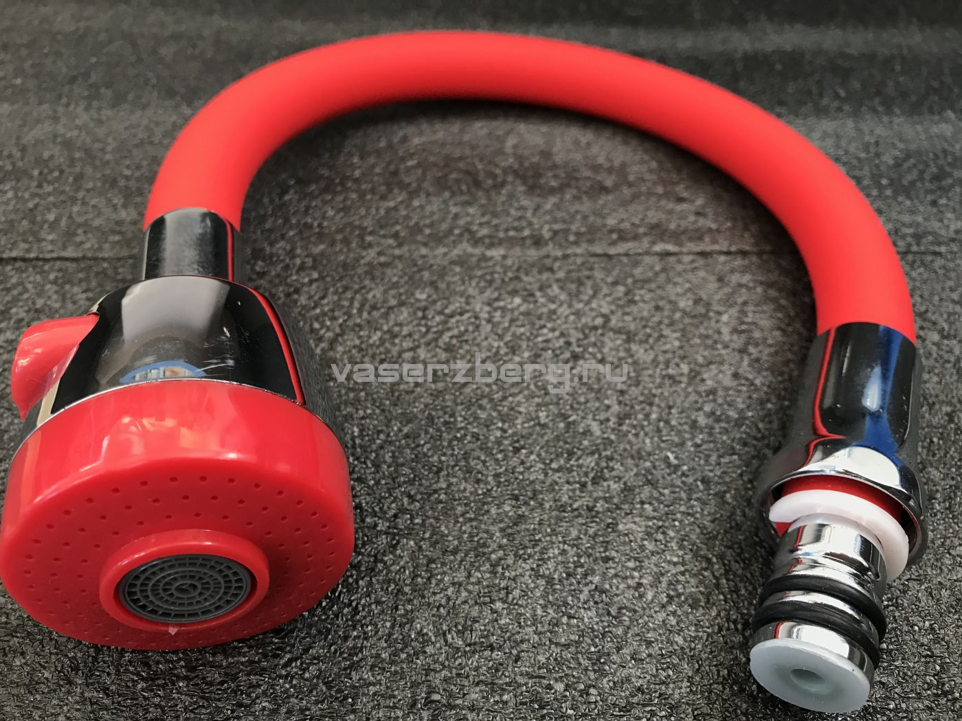 Гибкий излив для смесителя Vaserzberg VS-1R (красный)