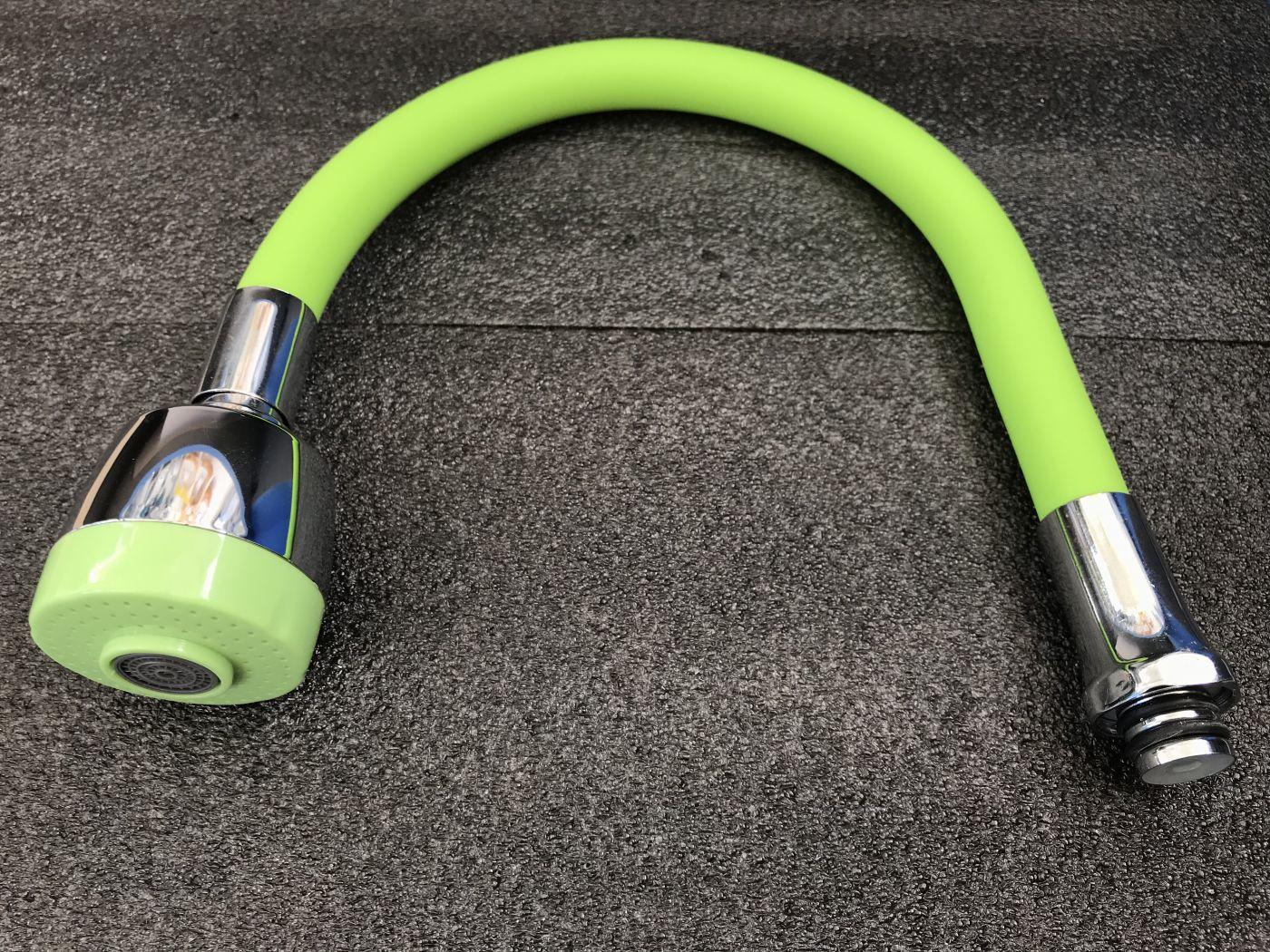 Гибкий излив для смесителя Vaserzberg VS-1G (зеленый)