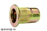 М10 заклепка резьбовая(гаечная),плоский фланец цилиндр цинк