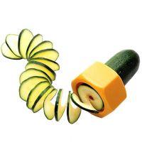 Слайсер для нарезки овощей спиралью (цвет жёлтый)