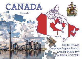 Почтовая открытка Step to Canada