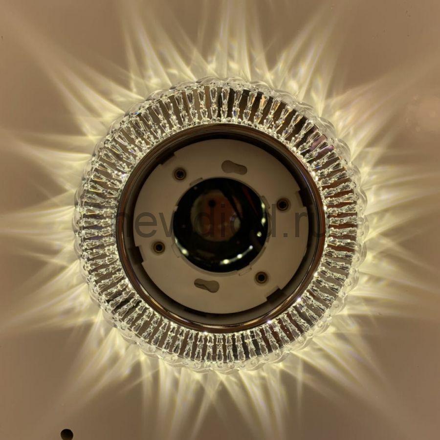 Точечный Светильник OREOL Crystal GX2103 122/80mm Под Лампу GХ53 H4 Белый