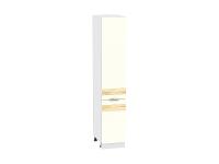 Шкаф-пенал с 2-мя дверцами Терра ШП400 D в цвете Ваниль софт