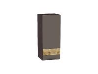 Шкаф верхний 1-ой дверцей Терра В300 D в цвете Смоки софт