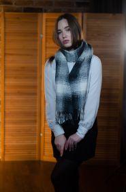 """кашемировый широкий рельефный шарф (100% драгоценный кашемир), """"Букле""""  Boucle Fancies , плотность 6"""