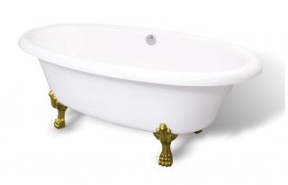Ванна мраморная AquaStone Оливия ножки цветные