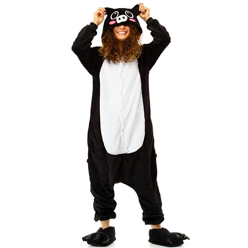 Пижама Кигуруми Свинка Черная