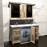 """Мебель для ванной """"Челси-2 double M береза"""""""