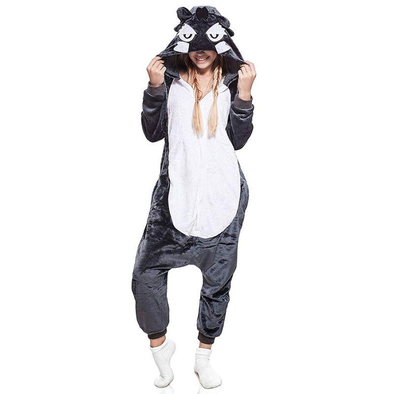 Пижама Кигуруми Волк Серый