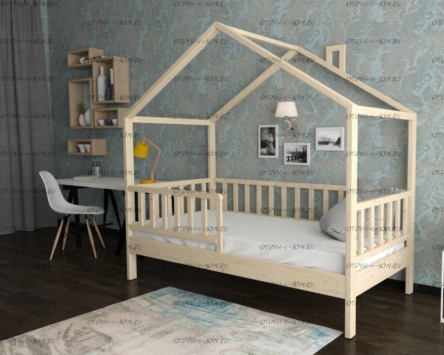 Кровать-чердак Домик №В, любые размеры