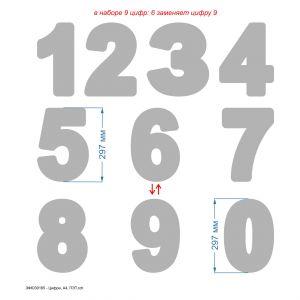 `Трафарет ''Цифра, А4'' , ПЭТ 0,7 мм