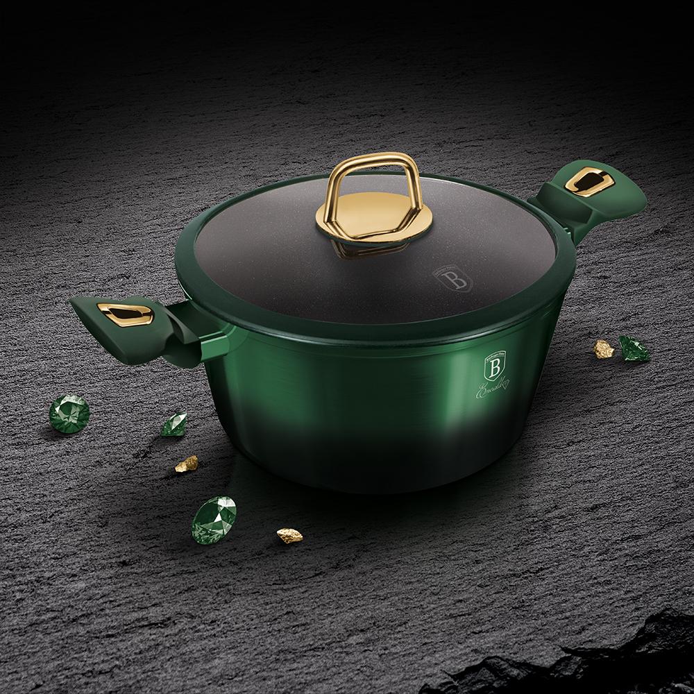 Кастрюля со стеклянной крышкой 28см, 6л BerlingerHaus BH 6059  Emerald