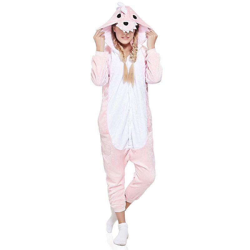 Пижама Кигуруми Динозавр Розовый