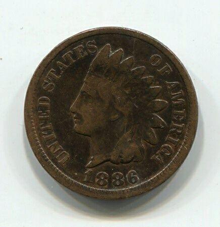 1 цент 1886 года США Редкий год