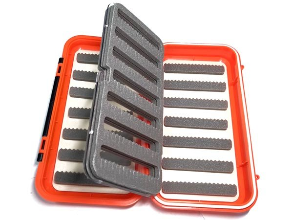 Коробка для мух 165*90*45 мм пенка Оранжевая КИТ