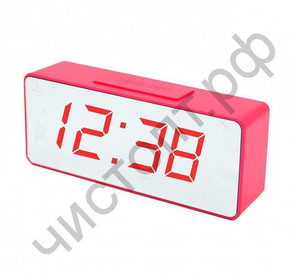 Часы  эл. сетев. VST886Y-1 крас.цифры(без блока) (5В)
