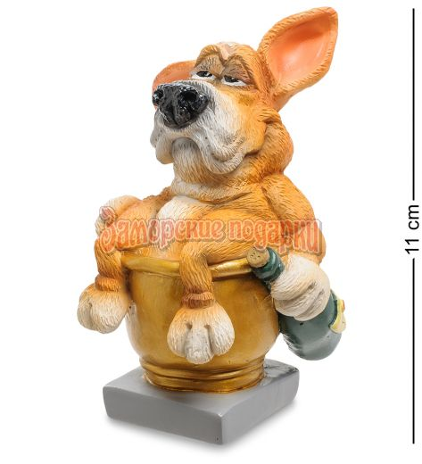 "RV-905 Статуэтка Собака Фоксхаунд ""Желаю полной золотой чаши"" (W.Stratford)"