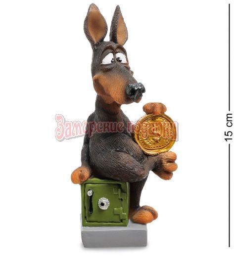 """RV-900 Статуэтка Собака Доберман """"Желаю достатка"""" (W.Stratford)"""