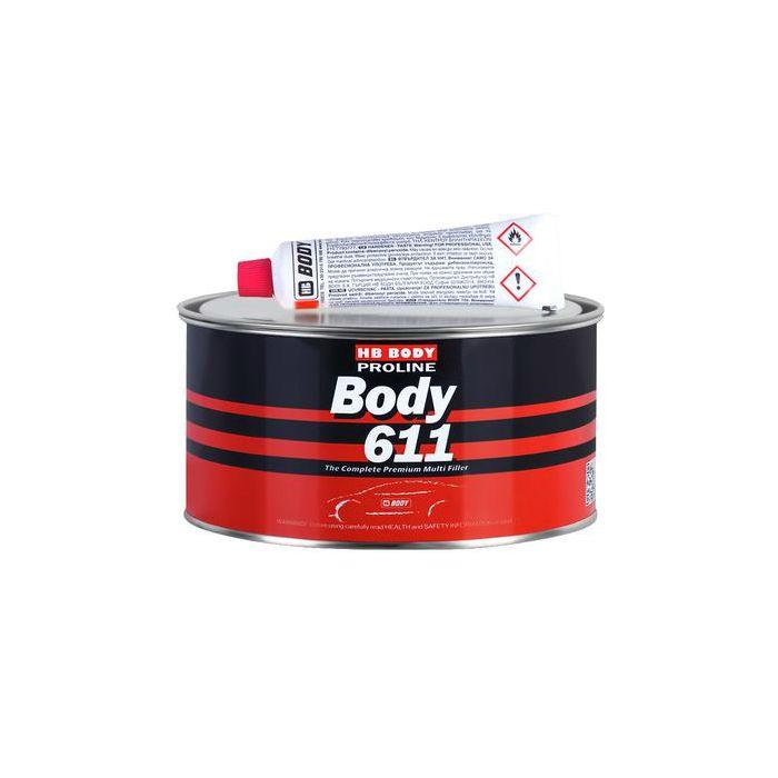 """HB Body Шпатлевка PROLINE 611 универсальная, название цвета """"Светло-желтый"""", объем 250гр."""