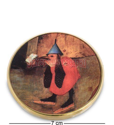 """pr-M25JB Зеркальце """"Искушение Св.Антония"""" Босх, фрагмент (Museum.Parastone)"""