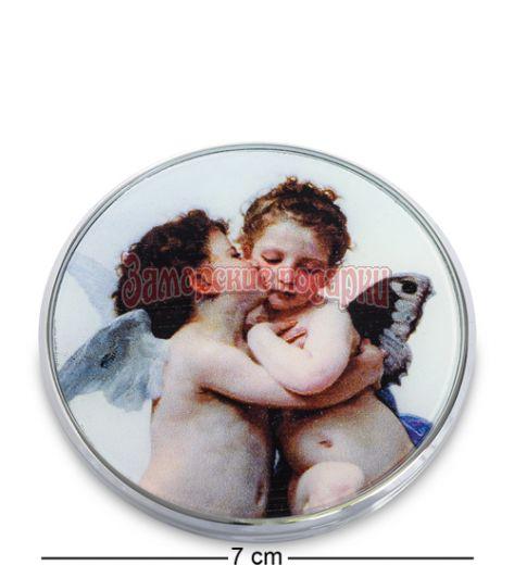"pr-M06BO Зеркальце ""Амур и Психея Дети"" В.А.Бугро (Museum.Parastone)"
