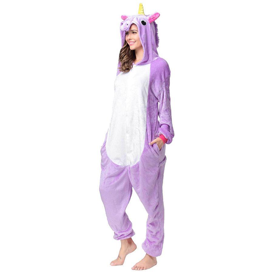 Пижама Кигуруми Единорог Радужный Фиолетовый