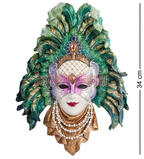 """WS-325 Венецианская маска """"Перо павлина"""""""