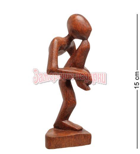91-025 Статуэтка АБСТРАКЦИЯ йог 15 см (красное дерево)