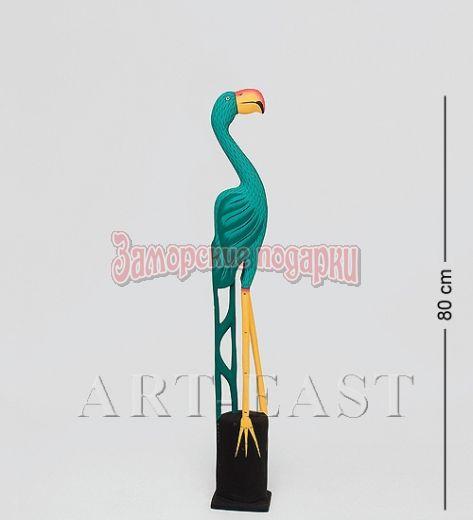 "90-022 Статуэтка ""Зеленый Фламинго"" 80 см"