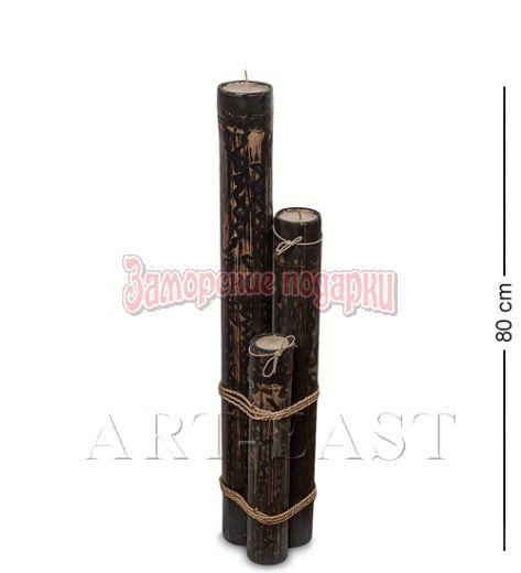 70-005 Подсвечник БАМБУК со свечой 80 см