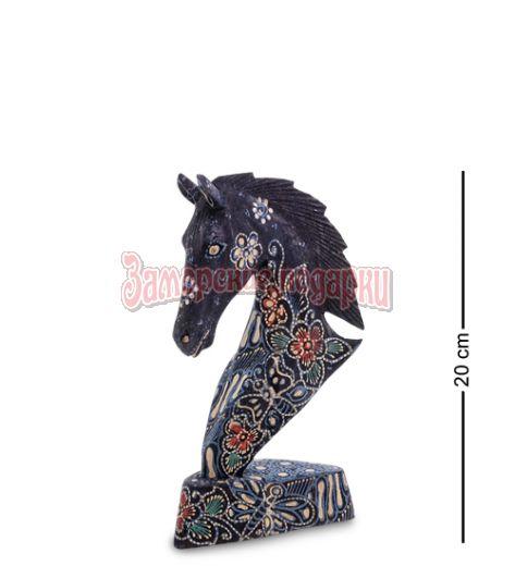 """10-015-02 Фигурка """"Лошадь"""" (батик, о.Ява) сред 20 см"""