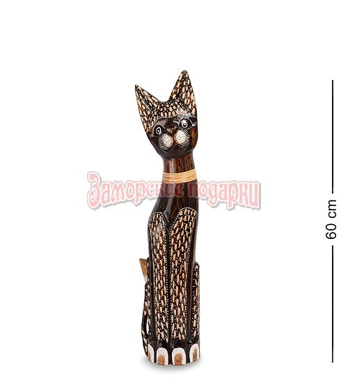 """99-310 Статуэтка """"Кошка"""" 60 см (албезия, о.Бали)"""