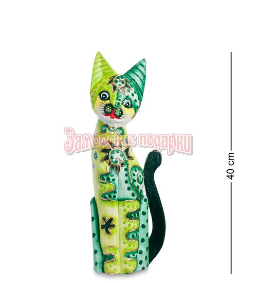 """99-287 Статуэтка """"Кошка"""" 40 см (албезия, о.Бали)"""