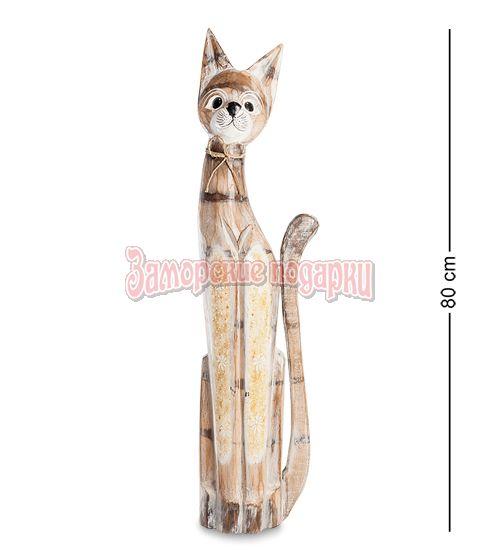 """99-214 Статуэтка """"Кошка"""" 80 см (албезия, о.Бали)"""