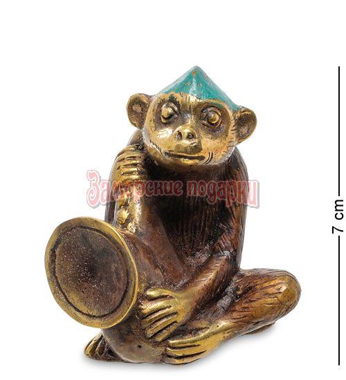 """24-006 Фигура Обезьяна """"Игра на саксофоне"""" бронза (о.Бали)"""
