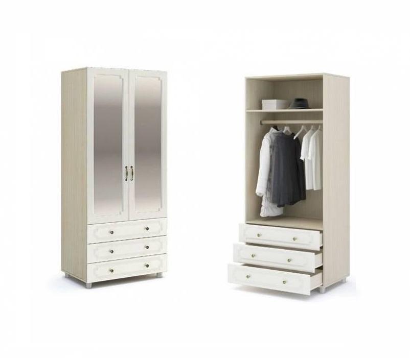 Шкаф с ящиками и зеркалом ШК-915 Виктория