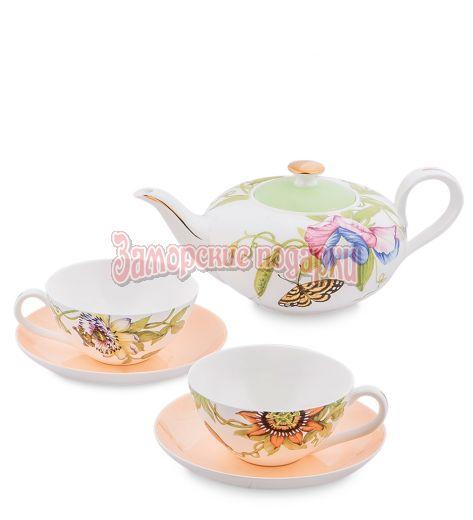 """JK- 11 Чайный набор на 2 перс.""""Сады Примадонны"""" (Pavone)"""