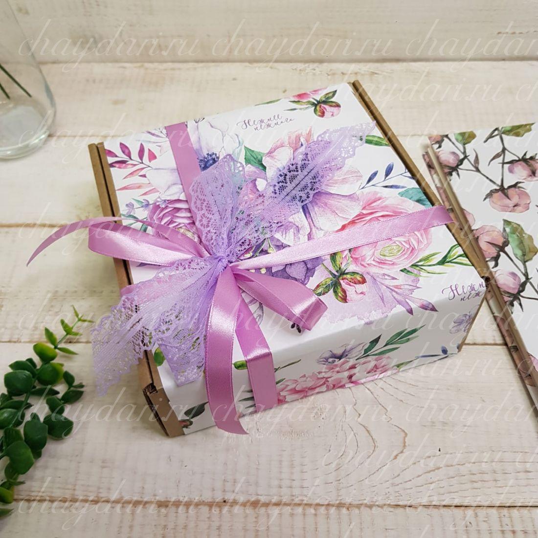 """Коробка с чаем """"Нежность рук"""""""