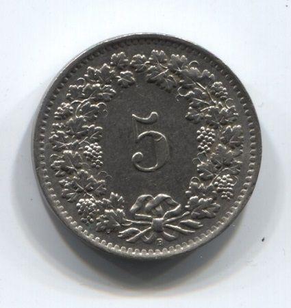 5 раппенов 1963 года Швейцария