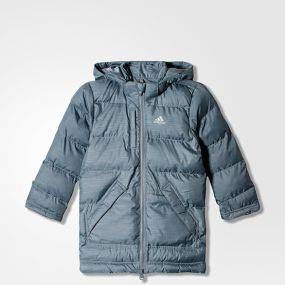 Детская куртка adidas Young Boys Jacket Synthetic Down Padding Parka серая