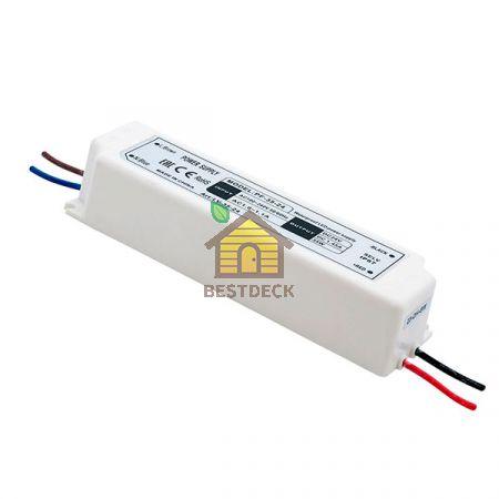 Блок Питания для ленты IP 67 пластик 35 W, 24V