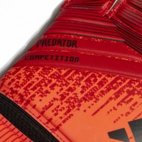 Вратарские перчатки adidas Predator Comp красные с чёрным