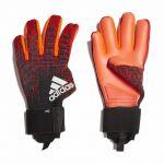 Вратарские перчатки adidas Predator Pro красные с чёрным