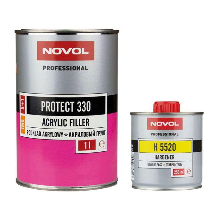 NOVOL Грунт 5+1 Протект 330 Трио черный (комплект), объем 1л. + 200мл.