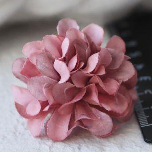 Бумажный цветок винный 3 см Кукольная миниатюра